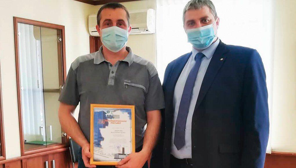 Водитель автобуса, участвовавший в спасении людей из горящего ТЦ, получил награду Минрегиона