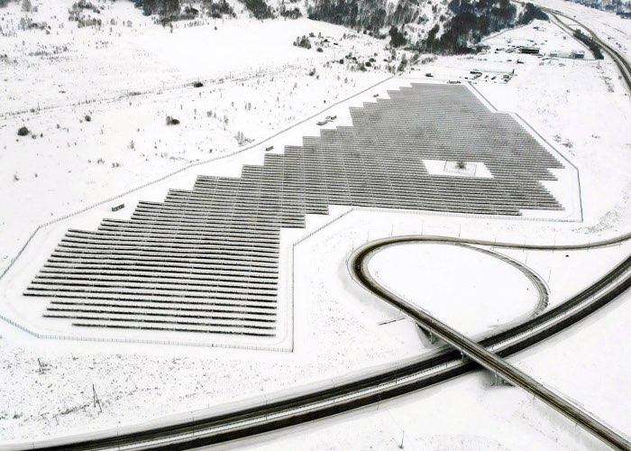 Солнечная электростанция в Майме.