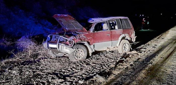 Ночная поездка на Mitsubishi Pajero завершилась драматически
