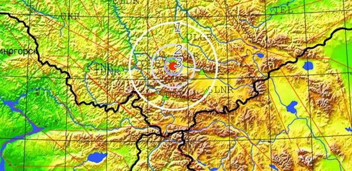 Землетрясение произошло недалеко от Акташа