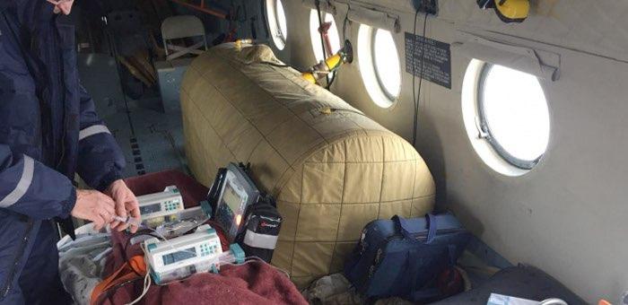 22 вылета с начала года совершила санавиация