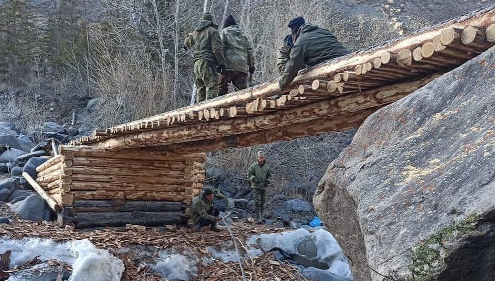 В Джазаторе своими силами построили мост через Кулагаш
