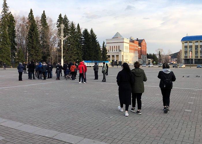 Акция в поддержку Алексея Навального прошла в Горно-Алтайске