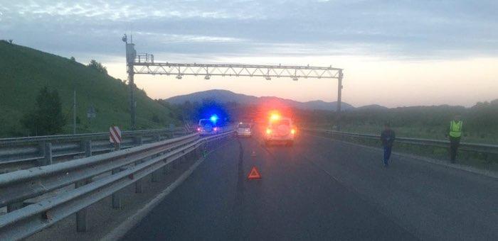 Ночью на Чуйском тракте возле аэропорта сбили пешехода