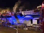 В Майме сгорел торговый павильон