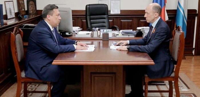 Олег Хорохордин провел рабочую встречу с Владимиром Полетаевым