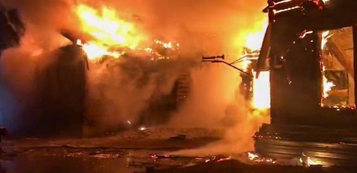 Школа в Мараловодке сгорела из-за неисправной электропроводки в котельной