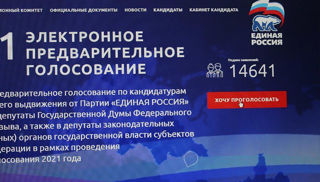 28 мая завершается регистрация избирателей на портале предварительного голосования