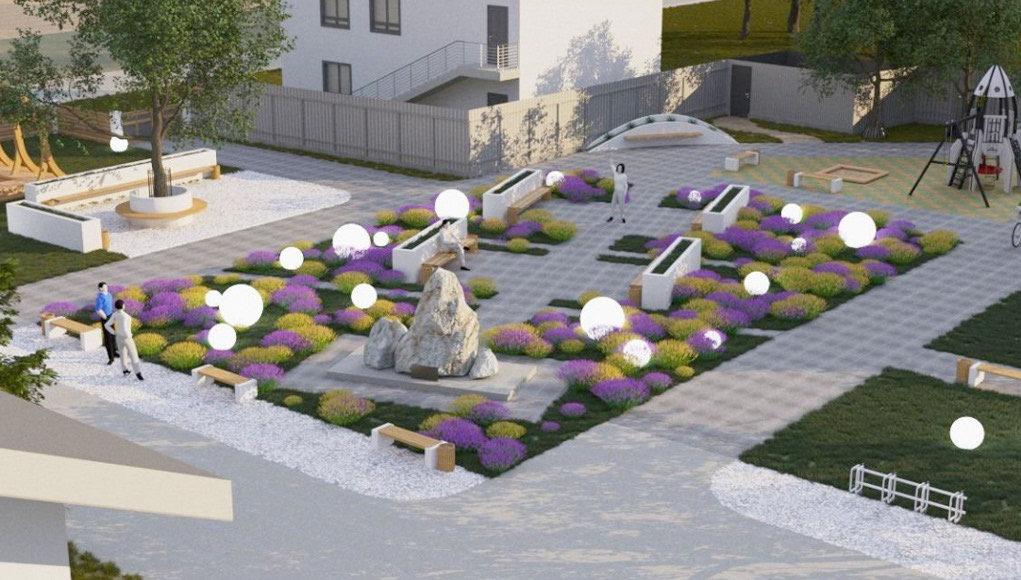 В Турочаке строят современный сквер