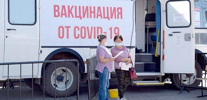778 человек получили прививку в мобильном пункте за первую неделю его работы