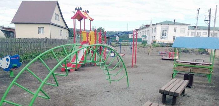 В Паспауле открыли новую детскую игровую площадку