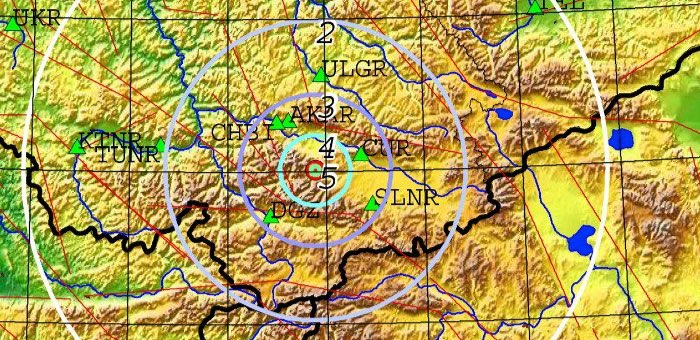 Возле Джазатора произошло землетрясение магнитудой 4.1
