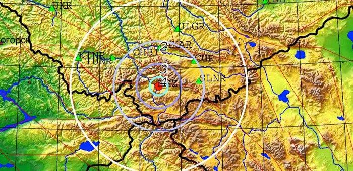 В Кош-Агачском районе произошло очередное землетрясение магнитудой 3,8