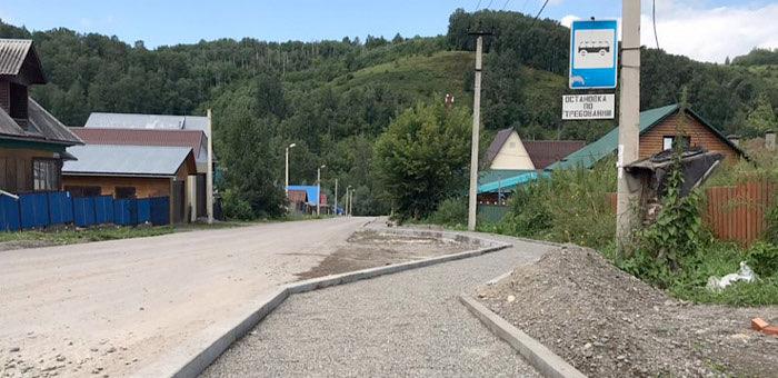 В микрорайоне Заимка ремонтируют улицы Смородиновую и Каташа
