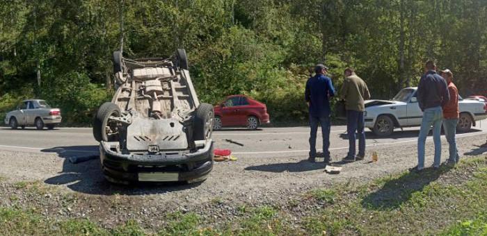 На объездной дороге столкнулись автомобили