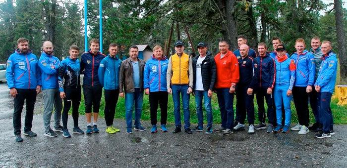 Биатлонисты из сборной России тренируются в УТЦ «Семинский» на Алтае