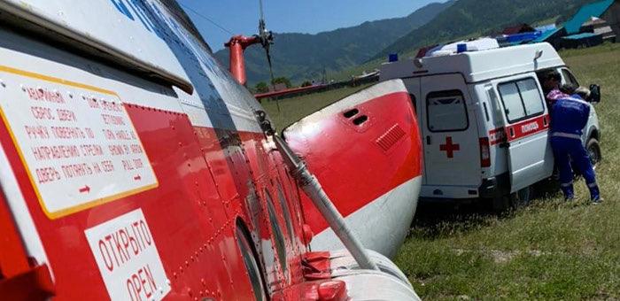 В июле благодаря санитарной авиации спасли жизни шестерых детей