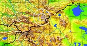 В Кош-Агачском районе произошло землетрясение магнитудой 2.8