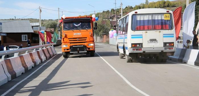 Мост через Улалушку после реконструкции открыли в Горно-Алтайске