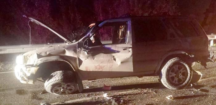 Нетрезвый сельчанин разбил Nissan Pathfinder и сам попал в больницу