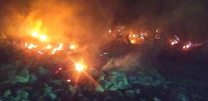 200 рулонов сена сгорело в Усть-Канском районе