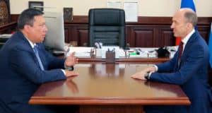 Олег Хорохордин провел работаю встречу с Владимиром Полетаевым