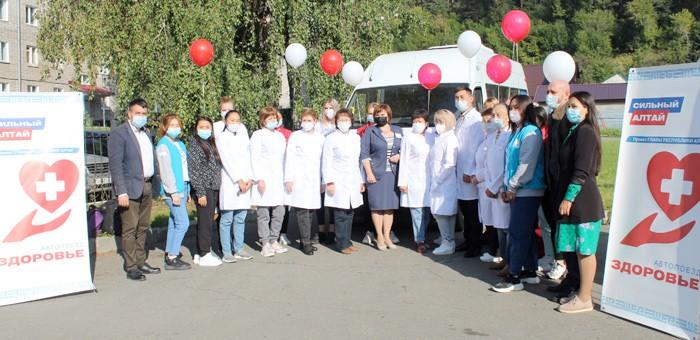Автопоезд «Здоровье» начал работу в Кош-Агачском районе