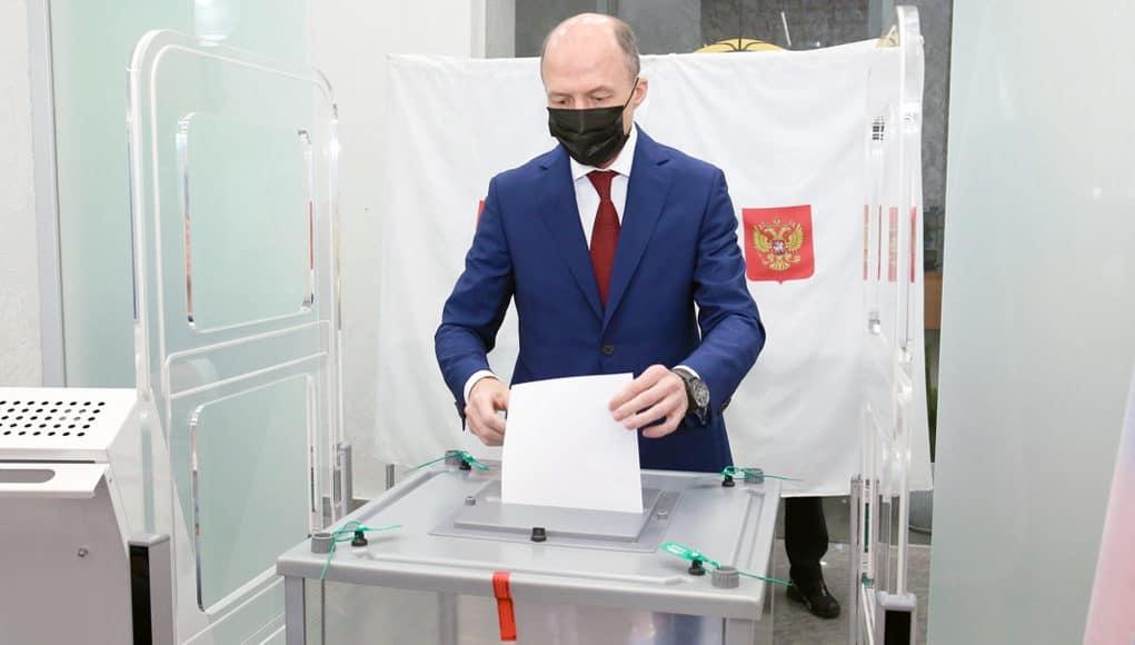 Олег Хорохордин проголосовал на выборах депутатов Госдумы