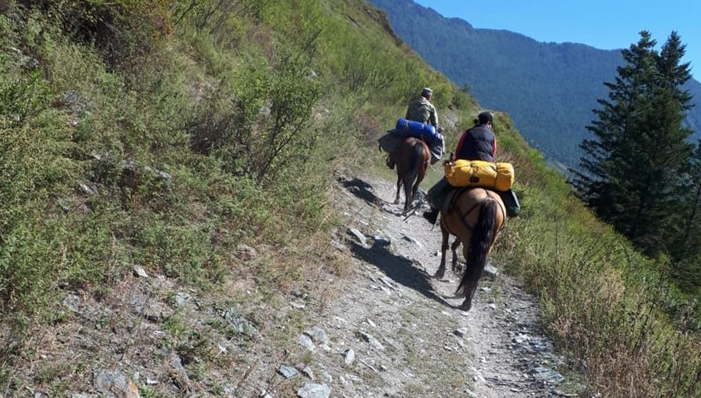 Предвыборная романтика: бюллетени доставили на лошадях на высоту 2,5 тыс. м над уровнем моря