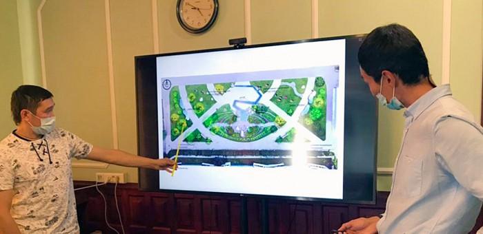 В Горно-Алтайске обсудили дизайн-проекты благоустройства Сада камней и детской площадки