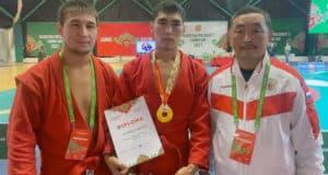 Семен Тайпинов завоевал золото ну турнире по самбо в Казани