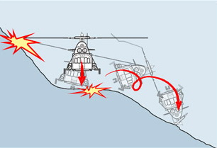 Схема крушения вертолета по версии Life.ru