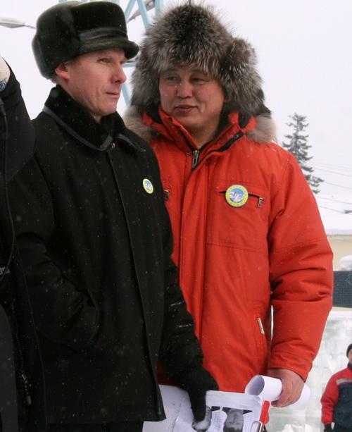 Организаторы митинга Михаил Паклин и Сергей Кыныев