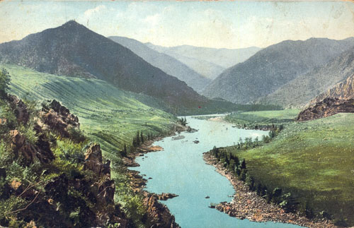 Долина реки Катуни близ Тогус-Кана