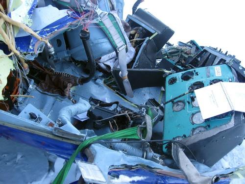 Кабина пилотов подверглась сильнейшим разрушениям