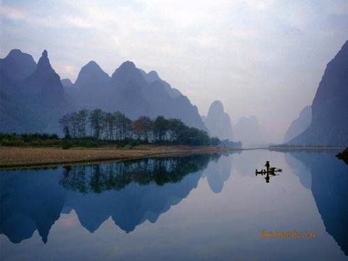 Типичный пейзаж Гуанси