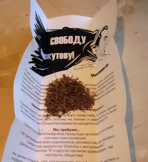 Барнаульские анархисты подбросили горожанам 50 пакетов с травой