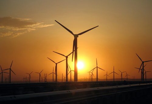 Ветряная электростанция близ Урумчи (фото Panoramio.com)
