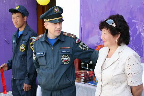 Игорь Букин открыл стационарный пункт пожарной охраны в Ине