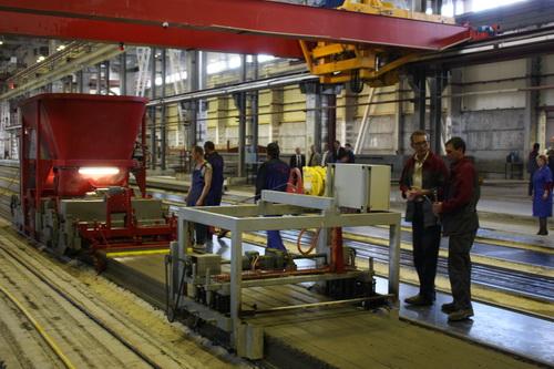 Производство плит перекрытий на бельгийском оборудовании ECHO Engineering nv
