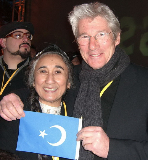 Ребия Кадер, Ричард Гир и флаг Восточного Туркестана