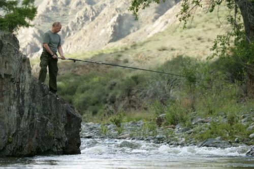Рыбалка на тувинской реке