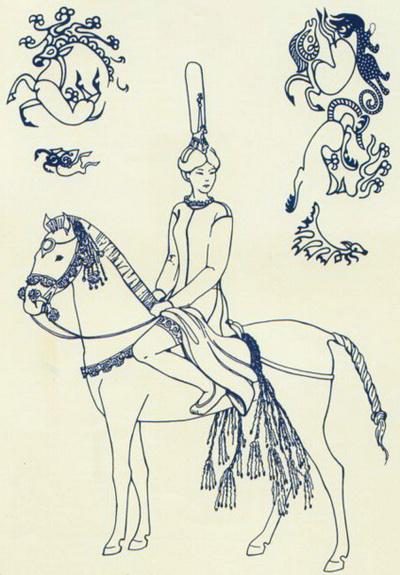Реконструкция облика и одеяния принцессы и татуировок с ее левого плеча