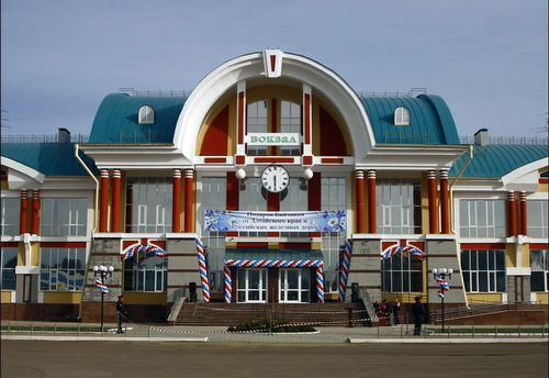 Новое здание железнодорожного вокзала в Бийске