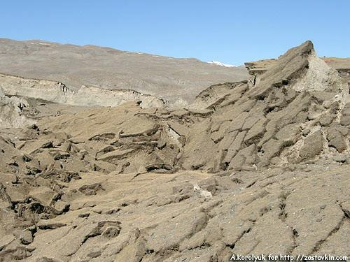 Оползень в эпицентре землетрясения 2003 года. Фото А.Королюк