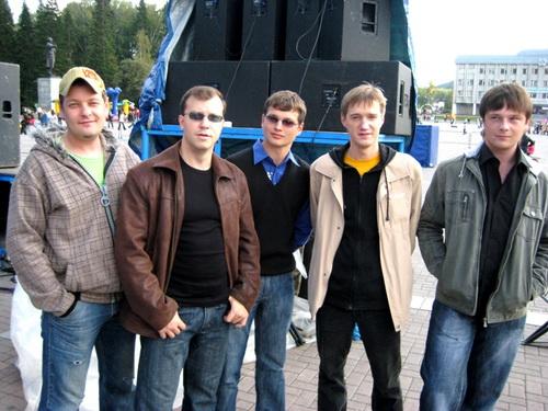 Слева направо: Алексей Параев, Павел Басаргин, Даниил Мизонов, Владимир Косолапов, Сергей Николаев