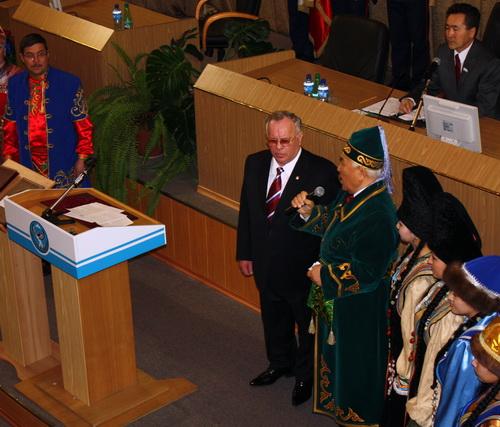 Борис Алушкин совершил обряд благопожелания