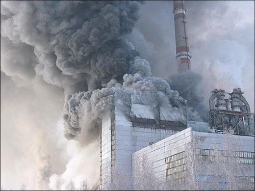 В Барнауле горит ТЭЦ-3
