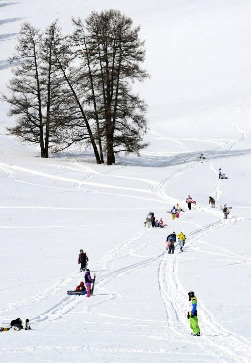В окрестностях Канаса прошел фестиваль сноубордистов
