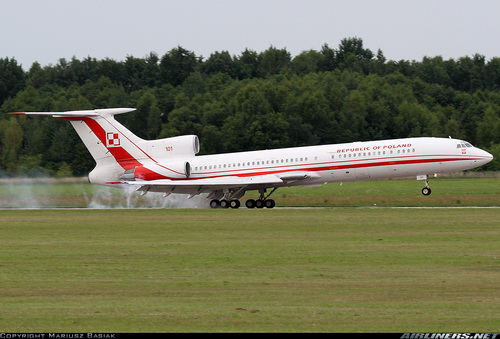Польский «борт №1», Tу-154M, фото airliners.net